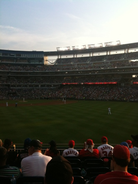Nationals Park on a sunny July evening.